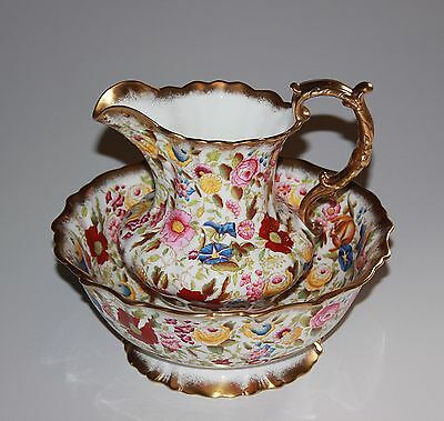 Hammersley Queen Anne Chintz, Basin And Ewer.