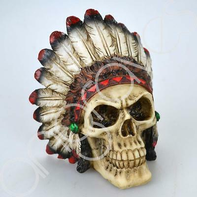 Indian Chief Sacred Skull Skeleton Ornament Figure Gift Decoration