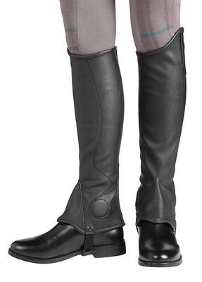 Harry Hall Dalton Unisex Synthetic Gaiters Half Chaps ALL SIZES