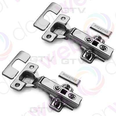 2 x GTV SOFT CLOSE HINGES Kitchen Self Closing Door Hinge Cabinet Cupboard 35mm
