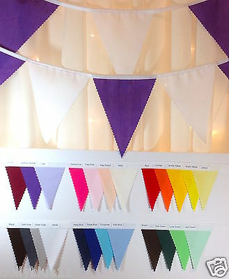Fabric bunting - Pick your own colours and length from 1 meter - wedding party