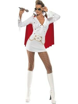Elvis Viva Las Vegas Adult Womens Smiffys Fancy Dress Costume
