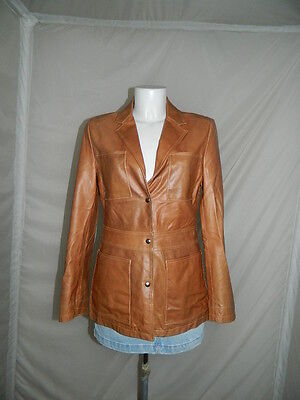 Max&co. Cappotto  Jacket Giacca Donna Woman Pelle Leather  Tg.44  Casual  S4517