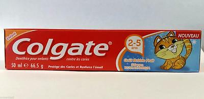 Colgate Toddler Bubble Fruit Anticavity Toothpaste 50ml For 2-5 Years Kids New
