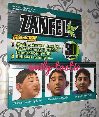 *ZANFEL Poison Ivy Oak Sumac 1 oz. Tube Itch Relief Wash Exp 01/2023 New Damaged