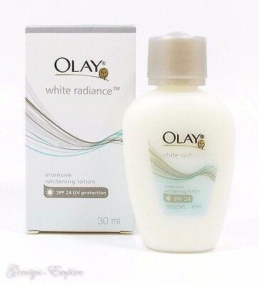 30ml. OLAY WHITE RADIANCE INTENSIVE WHITENING FACE LOTION SPF 24 UV PROTECTION