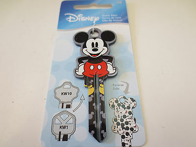 Mickey Mouse Shape D103 Kwikset KW1 House Key Blank Authentic Disney House Keys