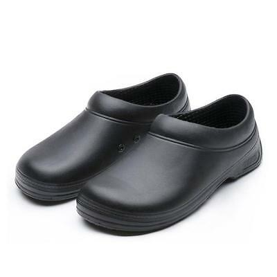 Mens Chef Garden All Weather Comfort  anti-skidding Shoes Black Many Sizes *