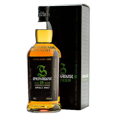 Springbank 15 Year Old Single Malt Scotch Whisky 700mL • AUD 194.99