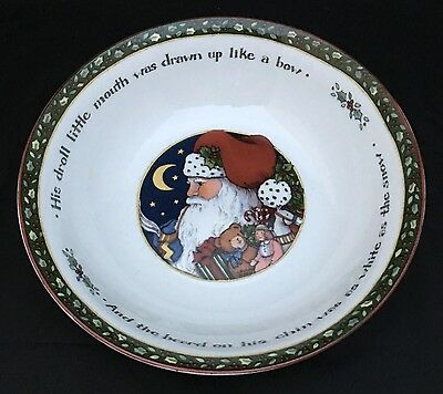 International China Susan Winget A Christmas Story Round Vegetable Serving Bowl