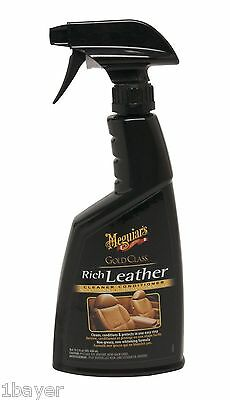 Meguiar's Gold Class Rich Car Vehicle Detailing Leather Cleaner Conditioner