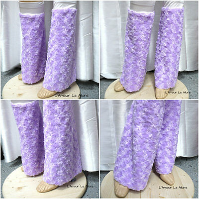 Lavender Purple Fluffies Leg Warmers Rave Bra Cosplay Halloween Costume
