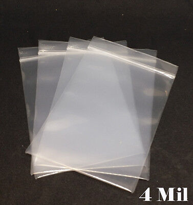 4 Mil Clear Zip Lock Reclosable Bag ZipLock  Zipper Packing Heavy Duty Plastic