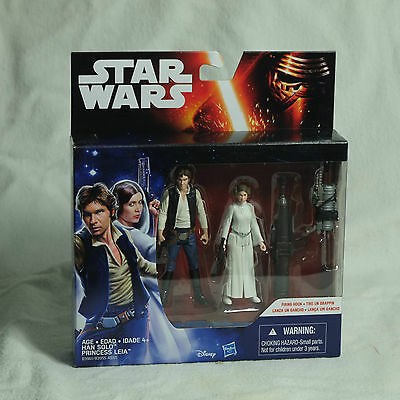 Star Wars A New Hope 3.75-Inch 2-Pack Space Mission Han Solo And Princess Leia