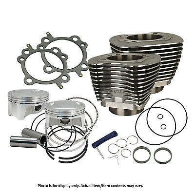 """S&S Cycle - 910-0481 - Wrinkle Black 98"""" Bolt-In Big Bore Kit 1999-06 Big Twin"""