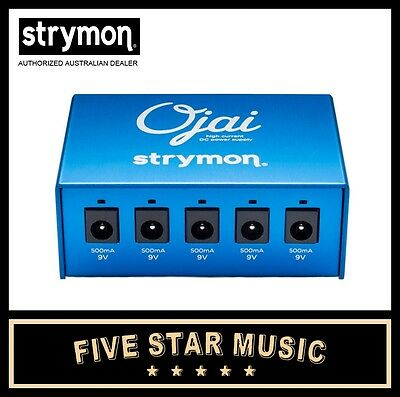 STRYMON OJAI COMPACT HIGH CURRECT dc POWER SUPPLY FOR GUITAR EFFECTS PEDALS -NEW