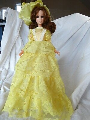 "Vintage 60s EEGEE 15"" Tall TEEN Southern BELLE Retro MOD makeup Fashion Doll NEW"