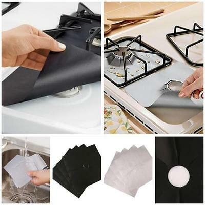 Cooks Innovations Non-Stick Gas Range Protectors - Black/Silver - Set of 4 Y