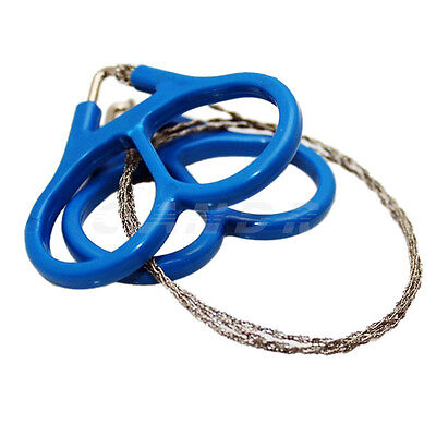 Mini Stainless Steel Wire Saw Emergency Camping Hunting Survival Tool Chain