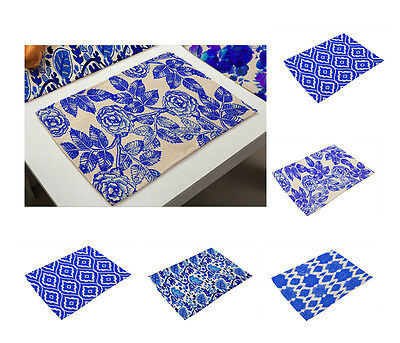 Blue And White China Placemats Insulation Place Mats Table Coasters Dining Sales