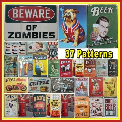 Metal Bar Plaque Pub Poster Tin Sign Wall Decor Retro Home Vintage Tavern Shop