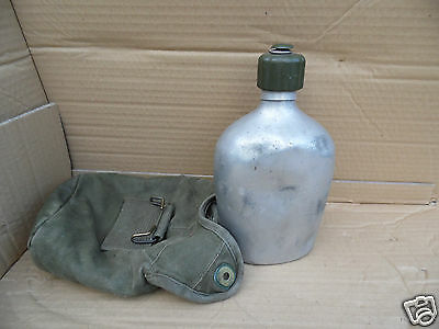 Genuine Army Issue (Possibly Dutch) Aluminium Water Bottle