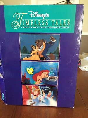 Disney's Timeless Tales Mouse Works Classic Set Of 3 Books Cinderella Beauty +