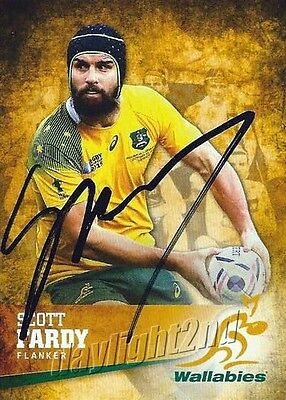 ✺Signed✺ 2016 WALLABIES Card SCOTT FARDY