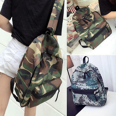 Camouflage Travel Work College School Camping Unisex Bag Backpack Rucksack NEW