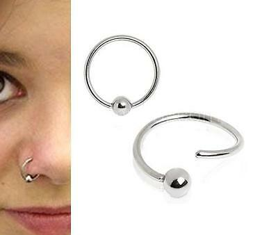 Surgical Steel Cartilage Earring Tragus Nose Ring Eyebrow Hoop Piercing
