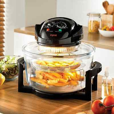 17 Litre  Halogen Convection Oven Cooker Extender Ring Grill Roast  Air Fryer