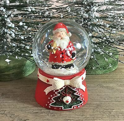 Scandi Santa Mini Father Christmas Snow Globe 45mm Gisela Graham Vintage