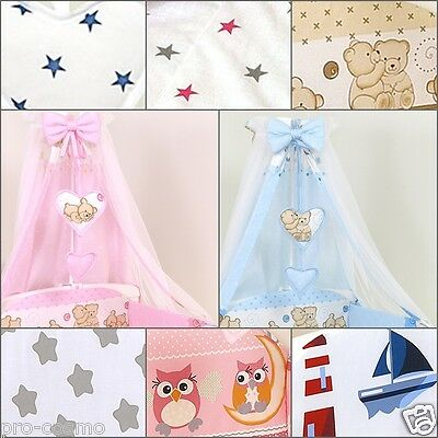 CANOPY Drape with HEARTS & BOW/  for Cot & Cot Bed- no holder