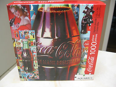 Coca Cola 1000 Piece  Jigsaw Puzzle By Aquarius 12 X 36 Inches