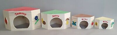 Rodent House Wood Small Animal Pet Suplies Hamster Gerbil Chipmunk Rat Rabbit