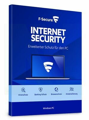 F-Secure Internet Security 2017 3 PC 1 JAHR - BEST PROTECTION !