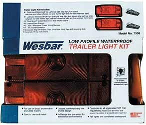 WPS 7509 Deluxe Trailer Light and Wiring Kit 2-7/8 X8 X2-5/8