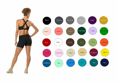 "Women Cotton Spandex Exercise Gym Bike Shorts (4"" Insteam) S-4XL 32 Colors USA"