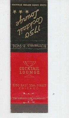 MATCHBOOK COVER  1750 Cocktail Lounge Chicago Illinois
