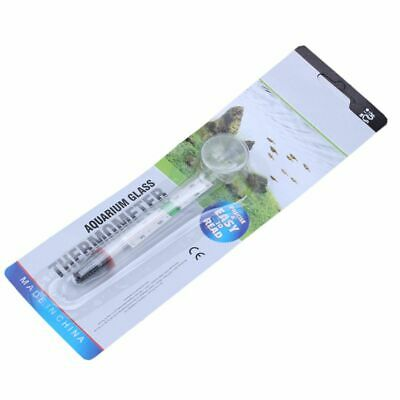 5x Glass Meter Fish Tank Water Temperature Aquarium Thermometer Suction Cup YM