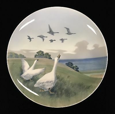 Vintage Large Royal Copenhagen Geese Decorated Wall Plate c1963
