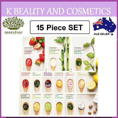 16 pieces [Innisfree] It's its Real Squeeze Mask Sheet Korean Face Mask