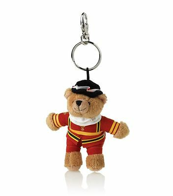 NEW Harrods Beefeater Bear Keyring (Gold Red Toys Bear Plush London Kids Dolls)