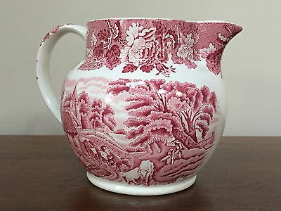 Wood & Sons ENGLISH SCENERY PINK 32 OZ Pitcher ~ ENGLAND