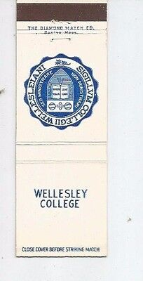 MATCHBOOK COVER Wellesley College