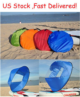 """42"""" Portable PVC Downwind Wind Paddle Popup Board Kayak Sail Instant 4 Colors US"""
