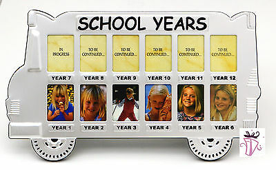 My First Day at School Bus Photo Frame School Year Memory