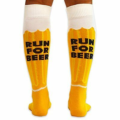 Knee High Half Cushioned Athletic Running Sock | Will Run For Beer