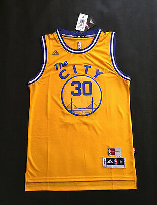 New Golden State Warriors #30 Stephen Curry Yellow Jersey Size: S - XXL
