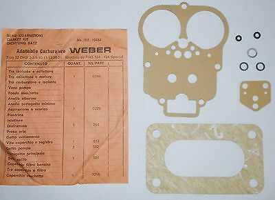 Fiat 124 Bn - Special - T/ Kit Guarnizioni Carburatore/ Carburetor Gaskets Set